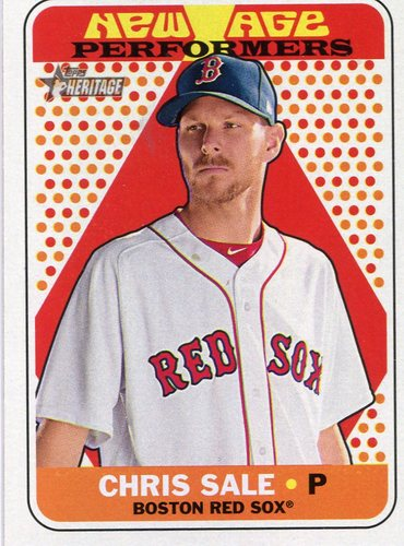 Photo of 2018 Topps Heritage New Age Performers #NAP24 Chris Sale