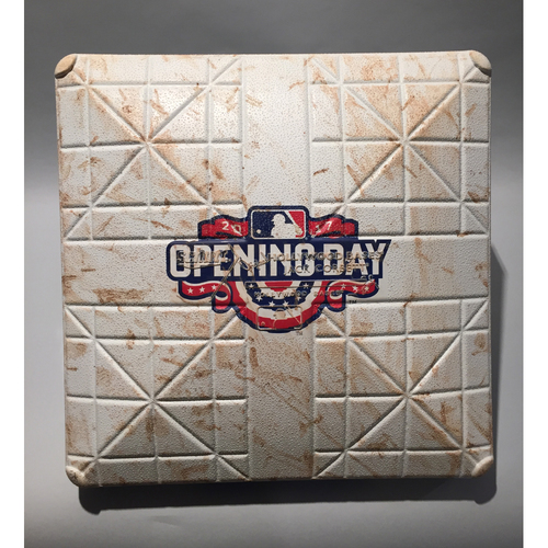 Photo of 2017 Pittsburgh Pirates Opening Day - 3rd Base Used In Innings 7-9 - 4/07/17