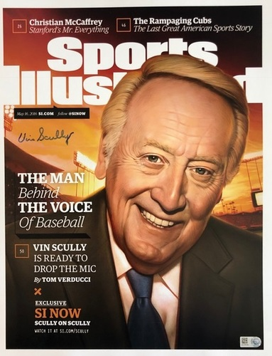 Photo of Vin Scully Autographed SI Cover - 11x14
