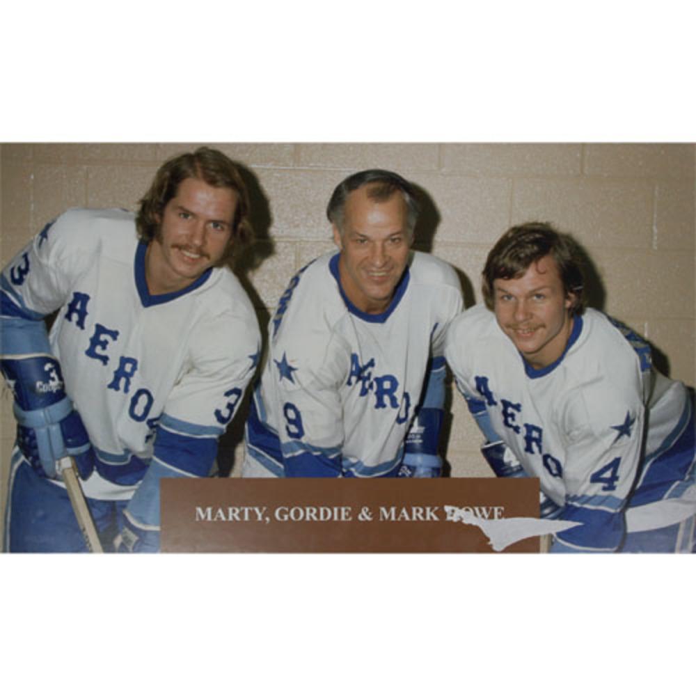 Gordie, Mark & Marty Large Houston Aeros Large Display - From Hockey Hall of Fame