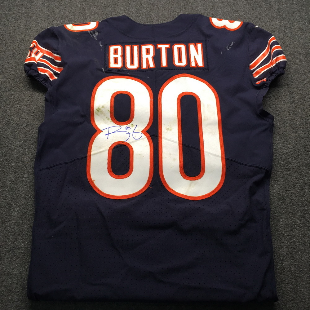 more photos a6bbb f5058 NFL Auction | STS - Bears Trey Burton Signed and Game Used ...