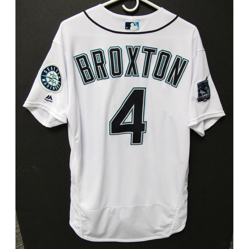 Photo of Seattle Mariners 2019 Keon Broxton Game-Used Jersey - Edgar Martinez Hall of Fame Celebration Weekend - August 9-11