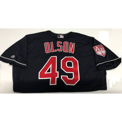 Tyler Olson 2019 Navy Spring Training Jersey