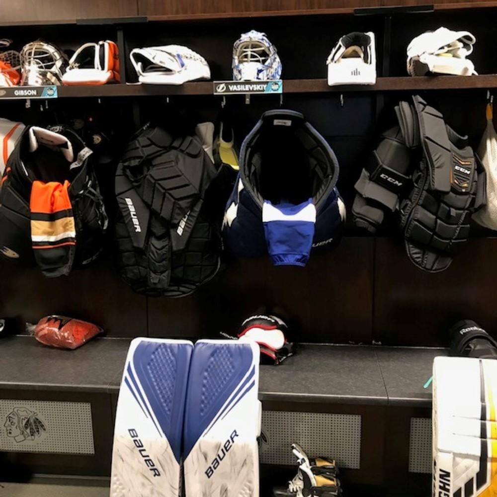 Andrei Vasilevskiy Locker Room Nameplate from 2019 Player Media Tour - Tampa Bay Lightning