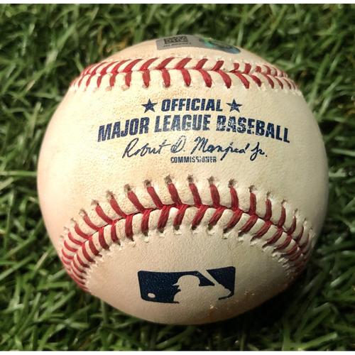Photo of Game Used Baseball: Brandon Lowe 2RBI single off Martin Perez - May 30, 2019 v MIN