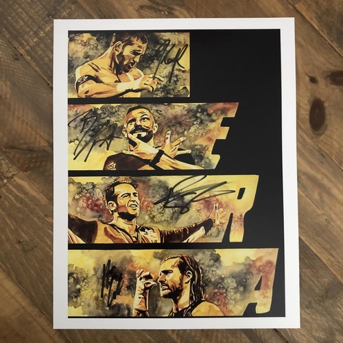 Photo of Undisputed Era  SIGNED 11 x 14 Rob Schamberger Print
