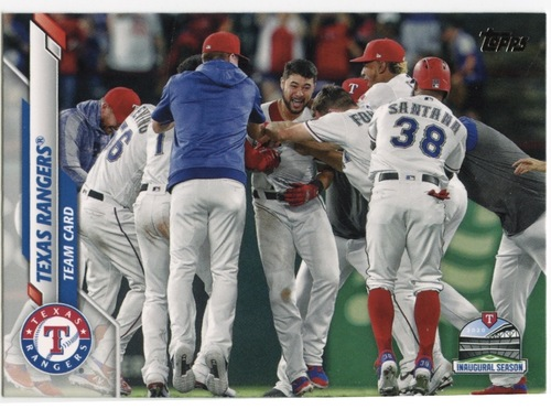 Photo of 2020 Topps #516 Texas Rangers TC