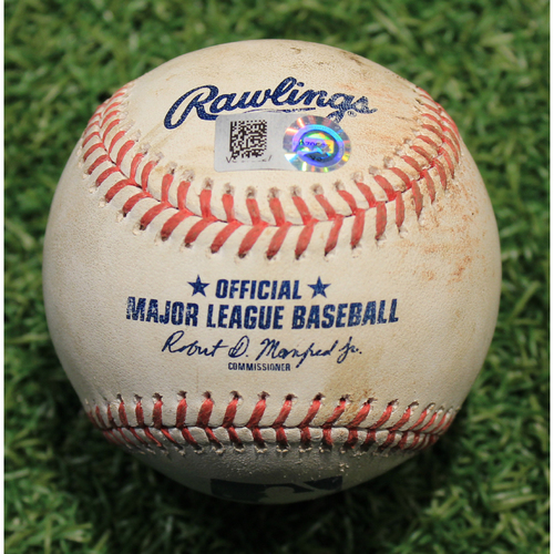 Photo of Game-Used Baseball: Jacob Stallings 14th Career Double (PIT @ KC 9/11/20)