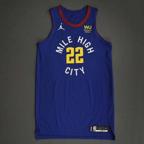 Image of Zeke Nnaji - Denver Nuggets - Game-Worn Statement Edition Jersey - Dressed, Did Not Play (DNP) - 2021 NBA Playoffs
