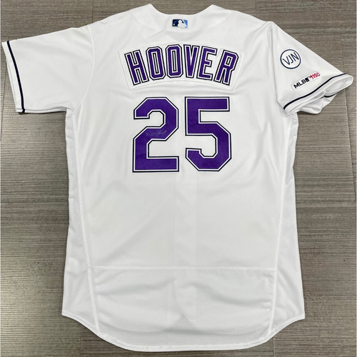 Photo of Game Used Autographed Devil Rays Jersey: Paul Hoover - 6 Games (See Description for Details)