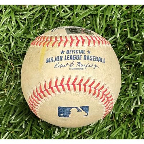 Photo of Game Used Baseball: Byron Buxton ground-rule double off J.P. Feyereisen - Top 4 - September 5, 2021 v MIN
