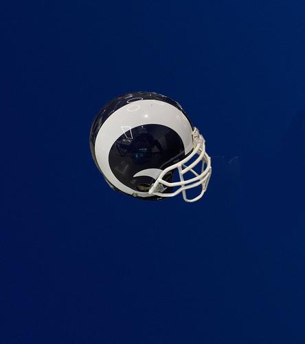 Photo of Navy and White Authentic Rams Helmet
