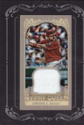 Photo of 2012 Topps Gypsy Queen Framed Mini Relics #RZ Ryan Zimmerman