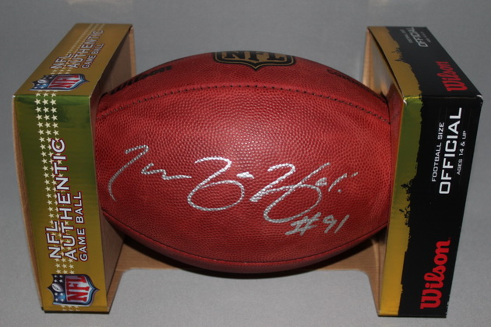 NFL - CHIEFS TAMBA HALI SIGNED AUTHENTIC FOOTBALL