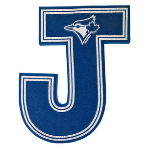 Toronto Blue Jays Foam Letter J by Diamond Diversified