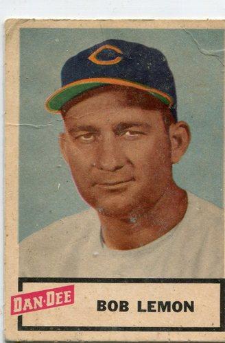 Photo of 1954 Dan-Dee #15 Bob Lemon -- Hall of Fame Class of 1976