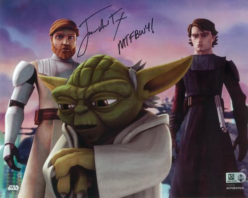 James Arnold Taylor as Obi-Wan Kenobi 8x10 Autographed Inscribed