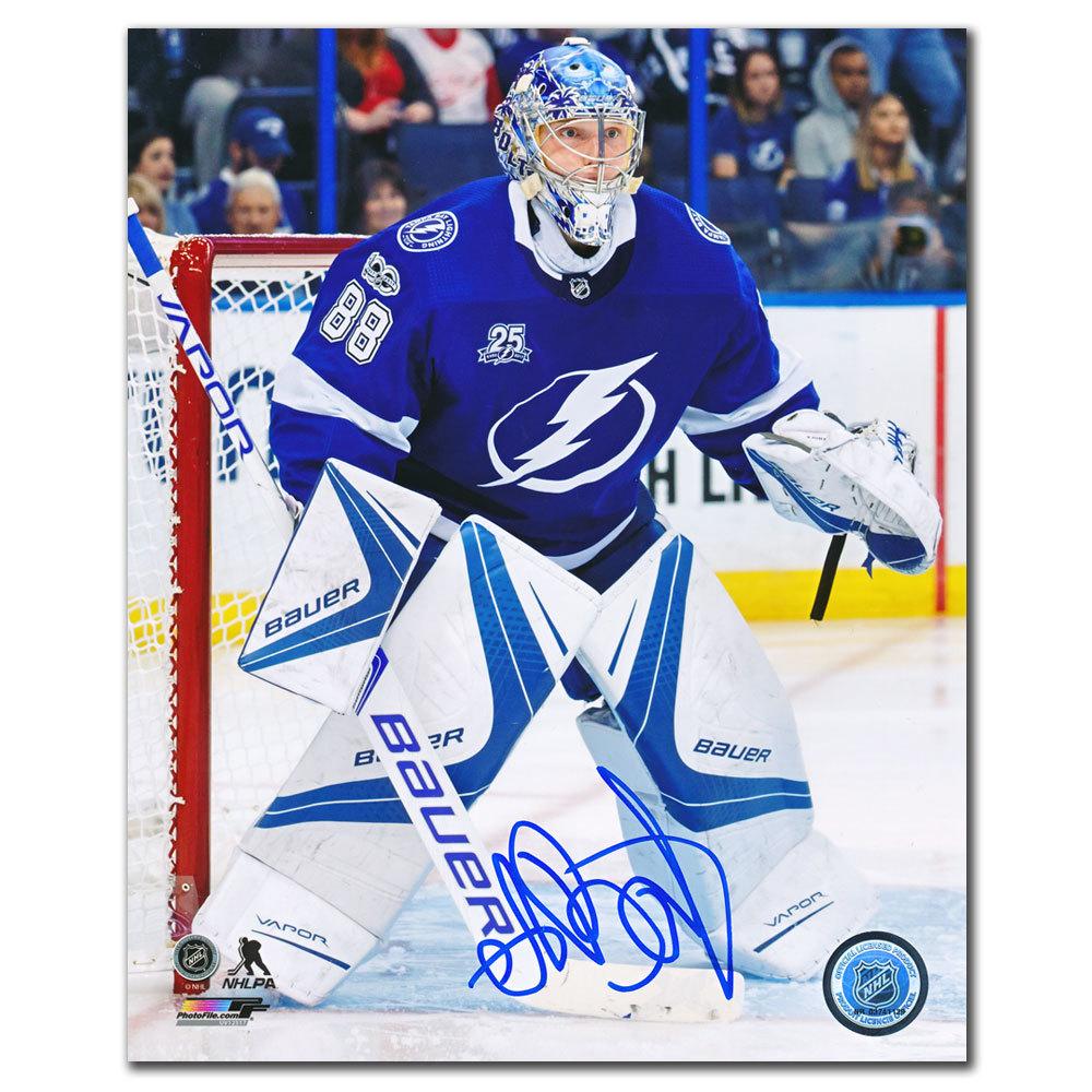 Andrei Vasilevskiy Tampa Bay Lightning FACEOFF Autographed 8x10