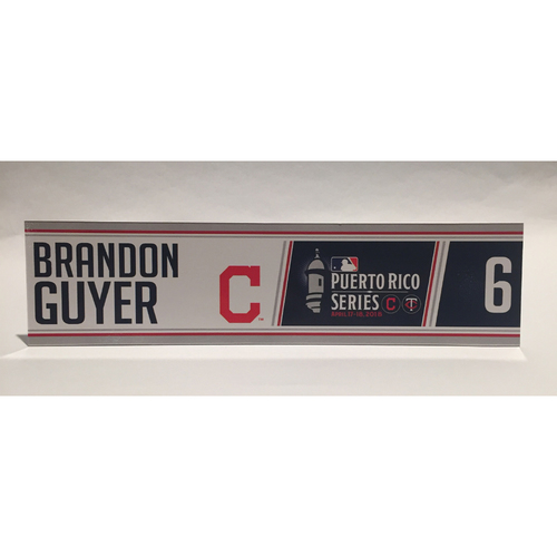 Photo of 2018 Puerto Rico Series - Brandon Guyer Game-Used Locker Name Plate