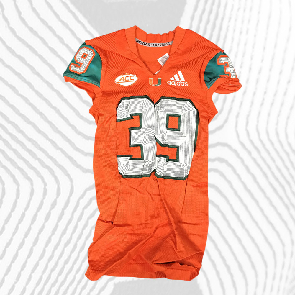 buy popular 5aaa9 45abe Miami Hurricanes Game-Worn Advocare Classic 2018 adidas x ...