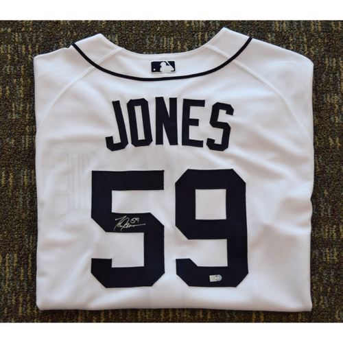 Photo of Todd Jones Autographed Detroit Tigers #59 Home Jersey