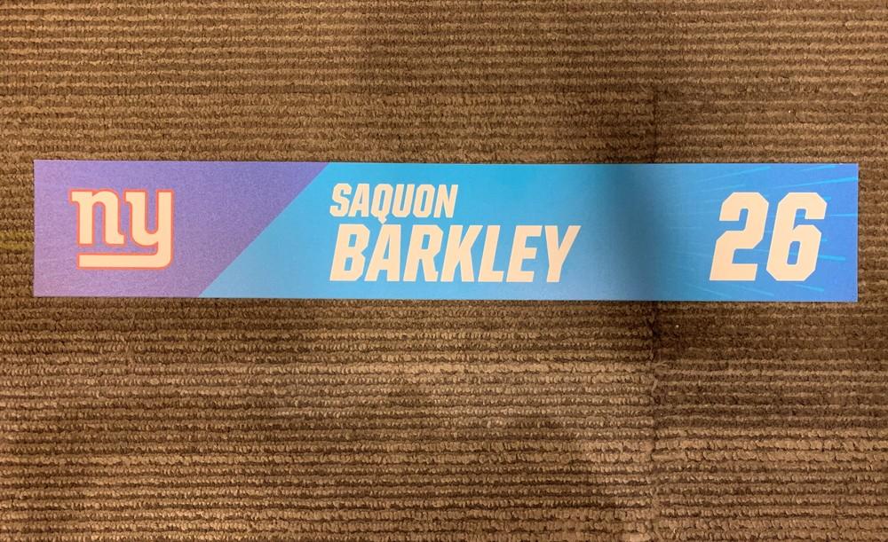 Giants Saquon Barkley - 2019 Pro Bowl Locker Room Sign