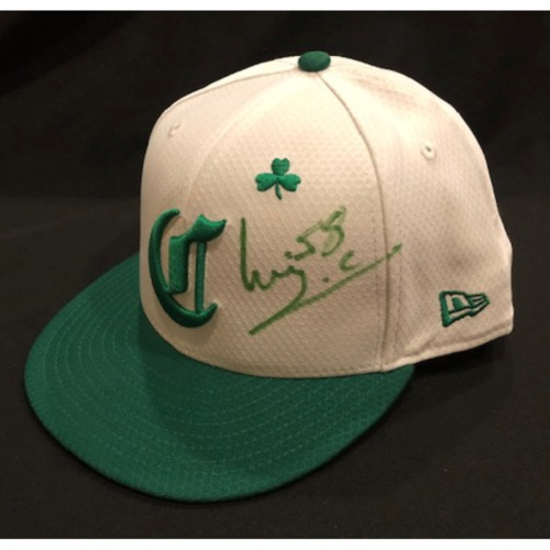 Photo of Luis Castillo -- Autographed & Game-Used Cap -- 2019 St. Patrick's Day