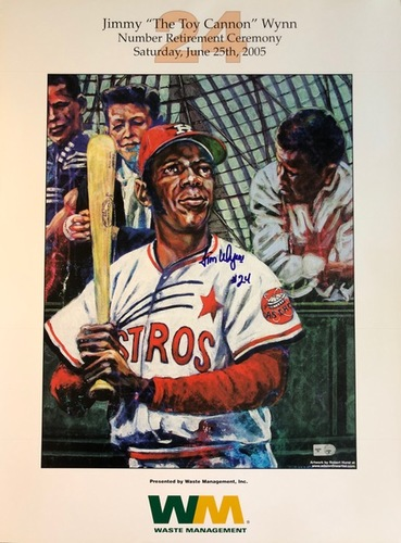 Photo of Jimmy Wynn Autographed Poster