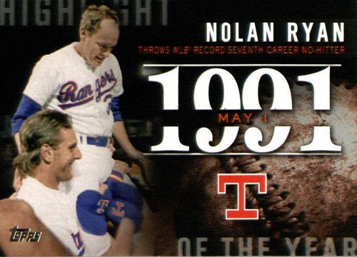 Photo of 2015 Topps Highlight of the Year #H54 Nolan Ryan