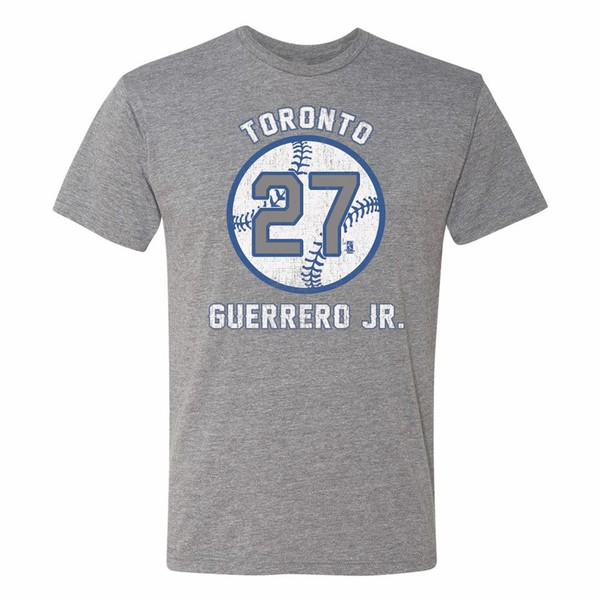 Toronto Blue Jays Guerrero Jr. Ball T-Shirt by 108 Stitches