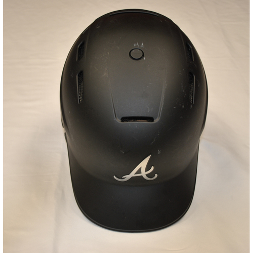 Photo of Bat Boy's Atlanta Braves Game-Used 2019 Players' Weekend Helmet
