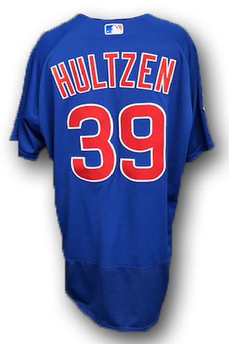 Photo of Danny Hultzen Game-Used Jersey -- Cubs at Cardinals -- 9/29/19 -- Size 48