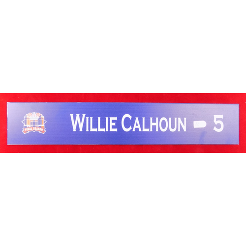 Photo of Final Season Game-Used Locker Tag - Willie Calhoun - 9/28/19 vs NYY