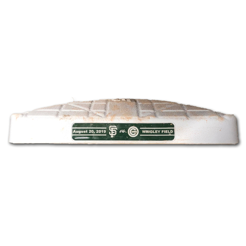 Photo of Game-Used 3rd Base -- Used in Innings 5 through 9 -- Giants vs. Cubs -- 8/20/19