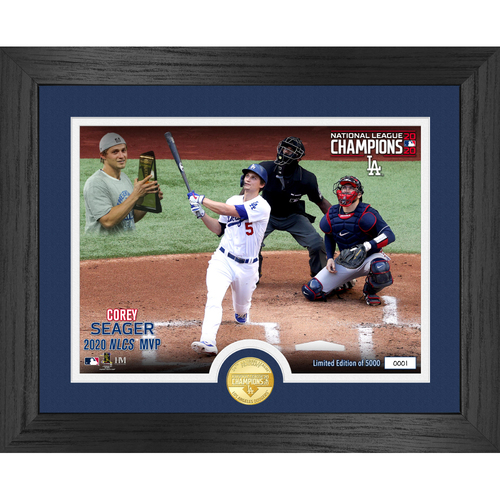 Photo of Serial #1! Los Angeles Dodgers 2020 NL Champions MVP Bronze Coin Photo Mint - Corey Seager