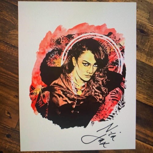 Photo of Nia Jax SIGNED 11 x 14 Rob Schamberger Print