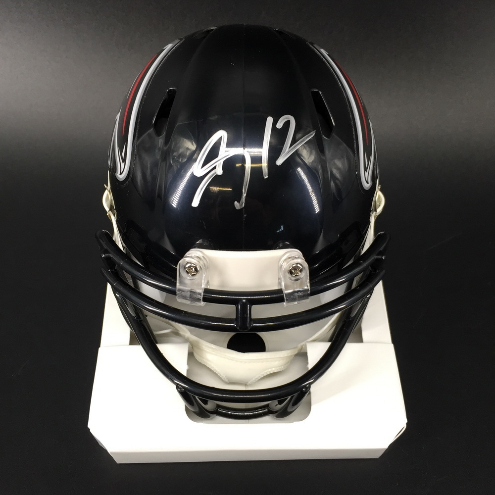 Falcons - Mohammed Sanu Signed Mini Helmet
