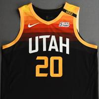 Udoka Azubuike - Utah Jazz - Game-Worn City Edition Jersey - Dressed, Did Not Play (DNP) - 2020-21 NBA Season