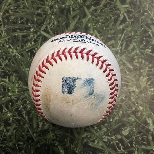 Photo of Game-Used Baseball LAD@MIL 05/02/21 - Julio Urias - Luis Urias: Single