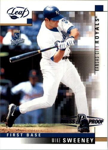 Photo of 2003 Leaf Press Proofs Blue #51 Mike Sweeney