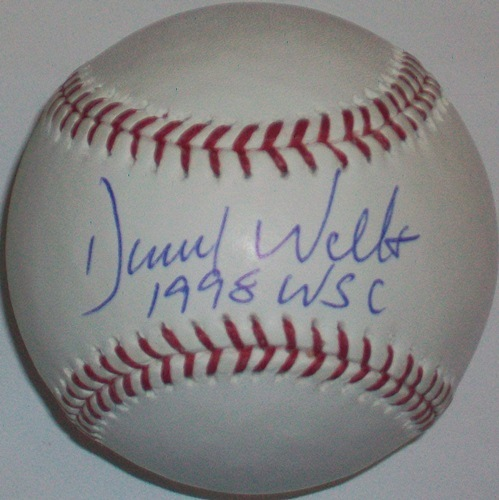 "Photo of David Wells ""1998 WSC"" Autographed Baseball"