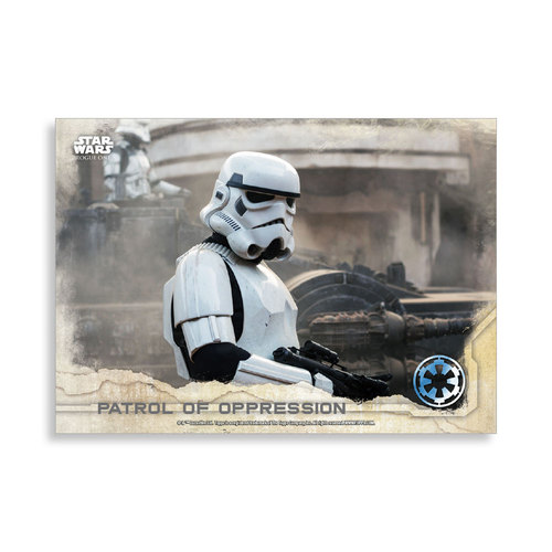 Patrol of Oppression 2016 Star Wars Rogue One Series One Base Poster - # to 99