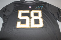 NFL - PANTHERS THOMAS DAVIS 2016 PRO BOWL DARK GRAY T-SHIRT WITH NAME AND NUMBER - SIZE 2XL