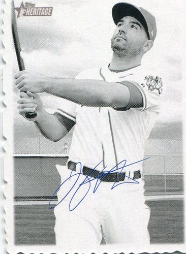 Photo of 2018 Topps Heritage '69 Topps Deckle Edge #10 Joey Votto   Facsimile autograph