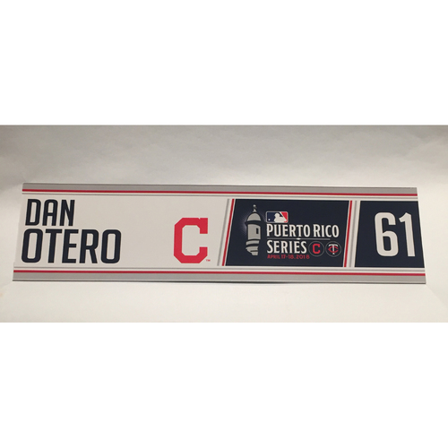 Photo of 2018 Puerto Rico Series - Dan Otero Game-Used Locker Name Plate