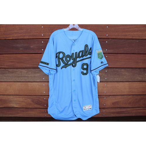 Photo of Game-Used Memorial Day Jersey: Drew Butera (Size 46 - MIN @ KC - 5/28/18)
