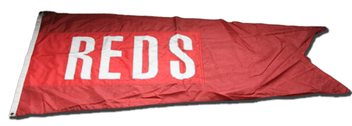 Photo of Wrigley Field Collection -- Rooftop Flag -- Reds