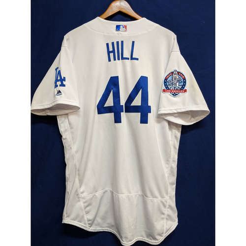 Photo of Rich Hill Game-Used Home Jersey - Giants vs. Dodgers - 4/1/18