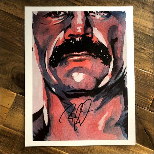 Photo of Robert Roode SIGNED 11 x 14 Rob Schamberger Print