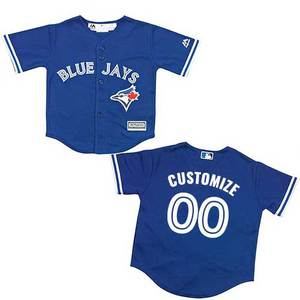 Toronto Blue Jays Toddler Customizable Cool Base Replica Alternate Jersey by Majestic
